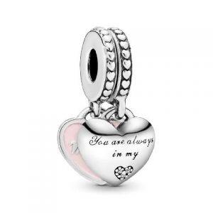 Charm Colgante Pandora Corazones Madre e Hija 792072EN40