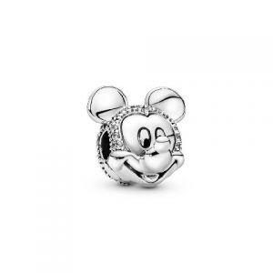 Clip Pandora Disney Retrato Brillante de Mickey 797495CZ