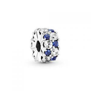 Clip Pandora Brillos Azules y Transparentes 799171C01