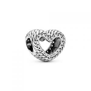 Charm Pandora Corazón Cadena de Serpiente 799100C01